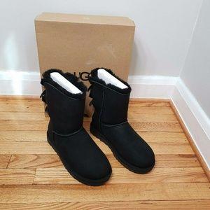 UGG Women's Bailey Bow II 2 Boots Black New